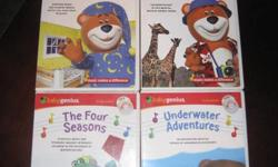 4 Baby Genius DVD's with bonus cd's. $20 and they're all yours Animal Adventures The Four Seasons Mozart and Friends Sleepytime Underwater Adventures