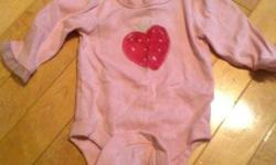 Picture 1: Baby Gap Long Sleeve Onesie With Strawberry On Front. Picture 2: Baby Gap Long Sleeve Onesie `I Love Mommy` Picture 3: Camera Long Sleeve Onesie, From Sears, Never Worn Picture 4: Short Sleeve Joe Fresh Pink Onesie With Flowers, Never Worn,