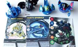 4 Bakugan set with 4 gate cards and 2 ability cards Diablo - 480g Sirenoid - 620g Limulus - 560g Brontes - 600g See photos for gate cards and ability cards These Bakugan are in excellent condition. Serious inquiries only. Local pick-up only. Price is not