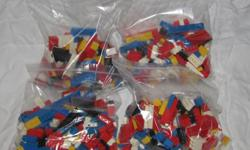 If this ad is up, the Lego is available! Hello, we are selling four pounds of Lego bricks. The bricks are all Lego brand, no Mega Blok. They are all basic bricks with a few wheels, but no figures or specialty parts. I also can't guarantee the wheels are