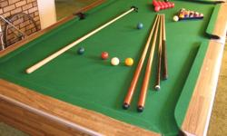 "1"" slate Top quality cloth Boston ball set Snooker ball set Dufferin score board 4 Cues Rest Brush"