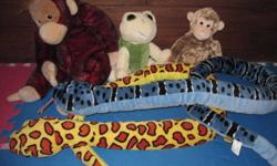 """Yellow snake (bought @ reptile show- good quality) $5 Blue snake ("""" """" ) $5 Monkey (small) $5 Turtle $5 Monkey (large) $5   Smoke free home, pick-ups only. I'm selling off other toddler/kid toys so don't forget to check-out my other ads!"""