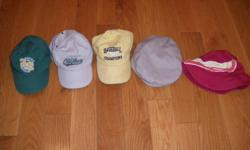 """5 infant boys hats   Hats purchased from Old Navy and the Children's Place Sizing range from 6-24 months    3 baseball hats 1 """"tilly"""" hat 1 """"poor boy"""" hat   Selling for $2.00 each for a total of $10.00 Not selling seperately   Please see my other ads for"""