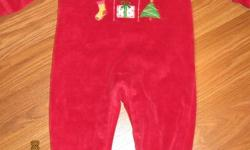 6-9 Month Gap Dress and 1st Christmas Sleeper - In excellent condition! $4 for both!   Please see my other ads! Able to meet in Fredericton or Oromocto.