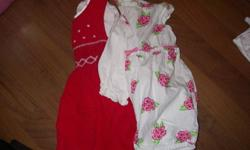 ***Take the lot for $50*** Smoke Free home! No Stains, very well taken care of! - 2 dresses - 2 sweaters - 7 onesies - 4 pants - 2 outfits - 3 shirts - 1 swimsuit - 10 sleepers *possible delivery!