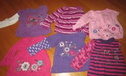 These 6 long sleeve shirts are all from Zellers and are 6-12 month in size. They are all in great condition, no tears or stains. ASKING $5.00 for all 6 or $2.00 each     *Please check out my other ads, I have tons of girls clothing ranging from 6months to