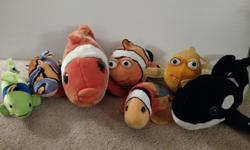 Various Sizes of Plush Fish/Whale Great Condition -Some Still have Tags Stored on Shelf Smoke and Pet Free Home