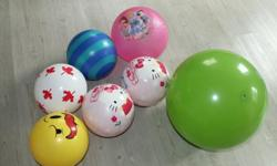 I got 7 various balls for kids for sale. We are no longer using them.