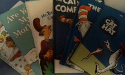 8 Dr. Seuss books plus 1 Berenstein Bears. All books are in great condition with no tears or marks, except The Cat in the Hat book has a first name written in the book belongs to box. Books are The cat in the hat, The cat in the hat comes back, Mr. Brown