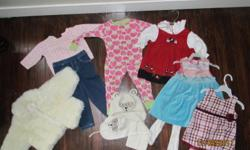 White Jacket - $10.00 Outfit - $2.00 PJ`s - $2.00 Dresses - $5.00 each Scarf, Hat and Mitts - $5.00   Buy all for $25.00