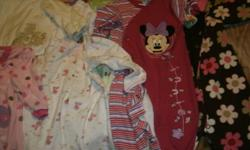 IN GOOD SHAPE AND SMOKE FREE HOME. 9 SLEEPERS FOR $10. SIZES 6-9 MTHS.