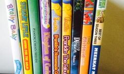 8 great dvds for you children to enjoy. Will keep them focus for quite some time because of the intriguing stories such as: - Clifford The Big Red Dog - Legend of the Dragon - Franklin The Fabulous - Franklin's Homemade Cookies - Care Bears - Kingdom of