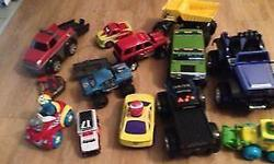A big lot of 14 kids cars in a great condition. Most with sounds. Pet smoke free home. Plz see my other ads for more kids items. Serious inquiries only. 14 cars at 25$ all, LESS THAN 2$ EACH