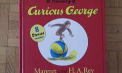 """""""He was a good little monkey and always very curious."""" 192 page treasury -8 stories in one book - in good condition"""