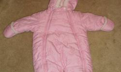 Absorba Fleece lined infant snowsuit. Little to no wear! Bunnies stitched all over.