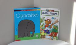 Titles * Opposites * Hidden Pictures o Children look for items in pictures. Helps sharpen visual skills, eye-hand coordination & attention to detail. Brand new.