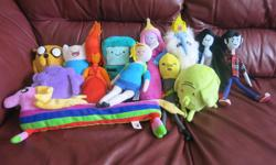 13 Adventure Time stuffies all in excellent condition. Selling all together, not separately. $60 takes all. These range from regular price $15-$30 per doll. East end pick up. No holds. Selling on other sites.