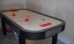 Air hockey game;  4 x 7 feet ;  table size height;  MakeDufferin;  like new;  300 obo