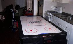 air hockey & pool table 2 in one. In excellent condition. Great christmas gift. $350.00