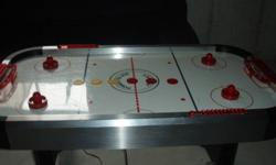 This Air Hockey Table has all pieces and is in great working condition.