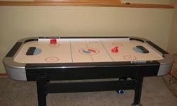 Sport Craft 4x7 Air Hockey Table. Comes with 4 pucks & 2 paddles.