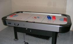 We are selling our Turbo Air Hockey table.  No longer room for it in our basement.  We never use it.  Excellent condition. Electronic.  If interested we can hold until Christmas Eve with a deposit.  Retail value of $699.