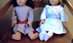 "IN MINT CONDITION! American Girl Best Friends Samantha & Nellie - Beautiful 18"" Dolls With lovely Silky Hair Easy To Comb Original Dresses. Samantha & Nellie Are Retired Dolls . Were Purchased Together . Nice Gift For Little Sisters Or Best Friend"