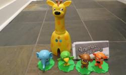 Listen and learn game of animal tag Letters, colours, and animal sounds Different levels of play