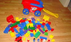 I have another Like New Mega Bloks Set with Wagon 84 Pieces for sale! This set is in excellent condition and would look great in your child's room or to give as a gift. Comes from a non-smoking household. Do not miss out on this excellent opportunity to