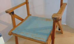 Antique 1940's Children's Wood Folding Chair Minor Wear Still Works Age 2-4 PRICES ARE FIRM Please check our website store for all our other amazing children's toys and Goodies. www.KidsstuffCanada.com We are a local registered business here in Victoria