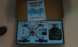 ready to fly, virtually brand new only needs battery and charger, has camera and sd card,