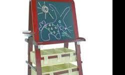 My daughter has outgrown her art easel, comes from a non smoking home paid $149 new from toys r us. Its very well made and has lots of paper on the roll for drawing.