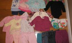 Various items of 3-6 month baby girl clothing for sale. $50 o.n.o., or will sell items individually. (smoke free, pet free home, some items never worn.) Please contact through ad or call 746-0560.