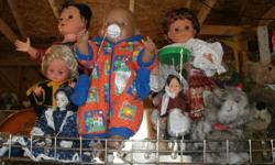 collectible Dolls, Souvenier Dolls from different countrys / Zapf Baby Doll / Monk Doll, selling the Dolls for $5 - $10 each - BUY 1 get 1 FREE - > click on * View seller's list - for other items. come and visit * My Thrift Shop * in Langford: at 980