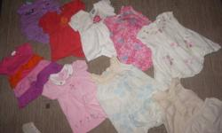 I have a wide range of girls clothes that are in excellent condition. The items include: Under shirts Pajamas and onesies Dress pants Jeans Shirts long/shorts sleeves Dresses Hoodies Summer dresses T-shirts Shorts Hats and toques Socks Shoes Blankets