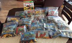 Assorted LEGO sets. A great assortment of Lego sets?Ninjago, Superheroes, Dimensions, Barbie, City, Creator, Junior, etc. All sets priced from $3-$15. Not all are complete, but the missing pieces are marked.