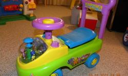 Assorted toys available, all priced between $10 and $25 each.  Discount available if multiple items purchased.  Available: grocery cart, backyardigans buggy, rocking horse, abicus table.  And lots more (see other ads)!!  All in excellent condition.