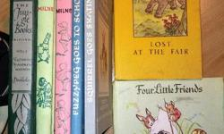 2 Christopher Robin, 2 Alice Uttley, 1 Classics illustrated Jungle Book, 2 more, all very good condition but no jackets. $7 for the lot, OBO. Text is best to get hold of me.