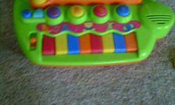 Hi have an assortment of baby toys looking to sell before christmas to make room for my sons new toys! Also he has grown out of alot of these toys.   first toy with the piano and animals green - 4$   yellow toy with pop up animals and music - 4$   Baby