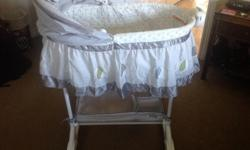 Bily brand bassinet...bought new in December. My little man has migrated to his crib :-)
