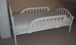 great shape baby bed for sale asking 55.00 or B/O  I also have for sale a dryer, riding lawnmower with trailer,  singer dressform mannequin, water cooler, round wine table, toaster oven, beer fridge, printer/scanner/fax/photocopier, desk.