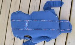 Baby Bjorn baby carrier (front carrier) Very lightly used but shows no sign of wear. Classic navy with plaid piping Wear baby against your chest with comfort and security from 8 lbs to 25 lbs max Instructions printed on the inside for added convenience