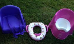 Clean, in great shape potty (on the right of photo) making space in our home! Please email or text :-) Will sell whole set for $50
