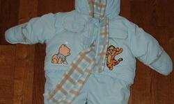 Bring your winter baby home from the hospital in the fantastic snowsuit. Appropriate for boys and girls. Baby blue fabric with matching scarf. Nice and cozy for your newborn. Brand New condition! Asking $20.00. Contact Laura at 519 680 0835. Please check