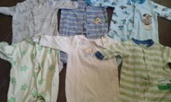 I have a bag of boys clothes size 0-3 months. Lot includes sleepers, long and short sleeve onesies, pants, jeans, vest, one piece jumper. Some pieces never worn. From clean, smoke-free home.