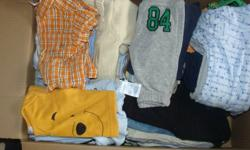 Hey I have Baby Clothes from 0-9 months my new little guy grew so fast out of his clothes only wore out fits at max 3 times if that. All brand name Carter, Childrens place Oshkosh. Here is a picture of some of the clothes at the top of the box the box is