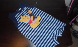 Striped Winnie the Pooh $3.00 Pooh moon and stars sleeper $2.00 Beige Mickey $3.00 Striped Baby Gap Green T-shirt $1.00 Blue Froggie $1.00 Striped beige sleeper $2.00 Blue pants and Shirt Outfit $3.00 Brown puppy chasing car $2.00 Buy separately for the