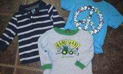 I have a bag of rarely worn baby boys clothing. Sizes are from 18-24 months. Everything is in great shape, no rips or tears, stain free and coming from a smoke free home!!   Brands include; Harley Davidson, Gap, The Children's Place, Please Mum, Carhartt,