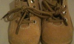 Cute little work boot type shoes size 1 in great condition This ad was posted with the Kijiji Classifieds app.