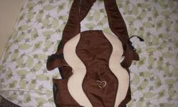 An Evenflo baby carrier in an excellent condition is for sale. Interested may call on 519-400-0859
